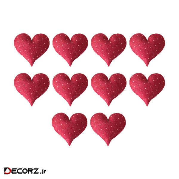 ابزار تزیینی کادو طرح قلب خالدار مدل 1126-H بسته 10عددی