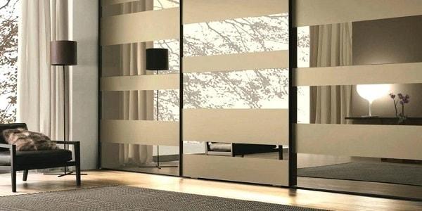 کمد دیواری ریلی آینه ای