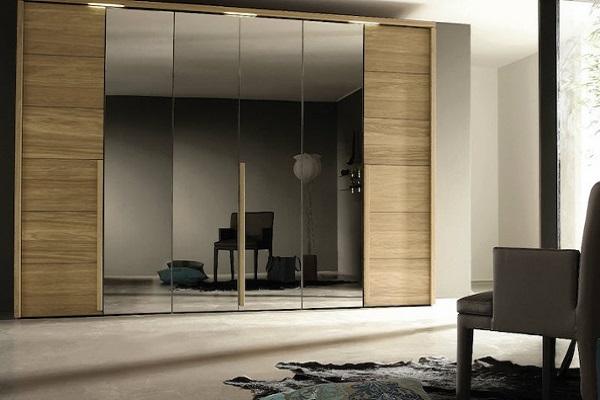 کمد دیواری آینه ای و ریلی