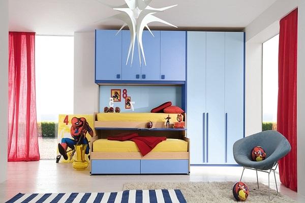 کمد دیواری زیبا برای اتاق بچه