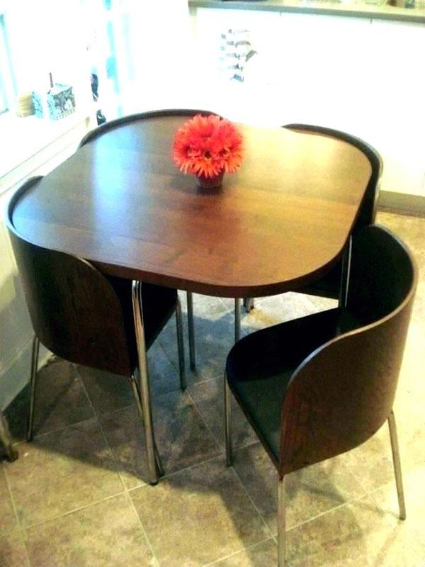 میز ناهارخوری کم جا و تاشو چوب و استیل