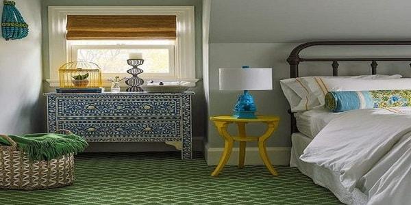 طراحی رنگی در اتاق خواب