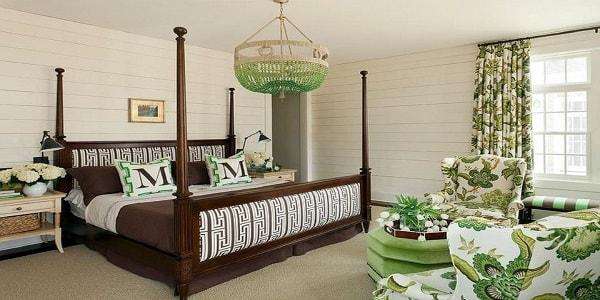 ایده نورپردازی سبز اتاق خواب