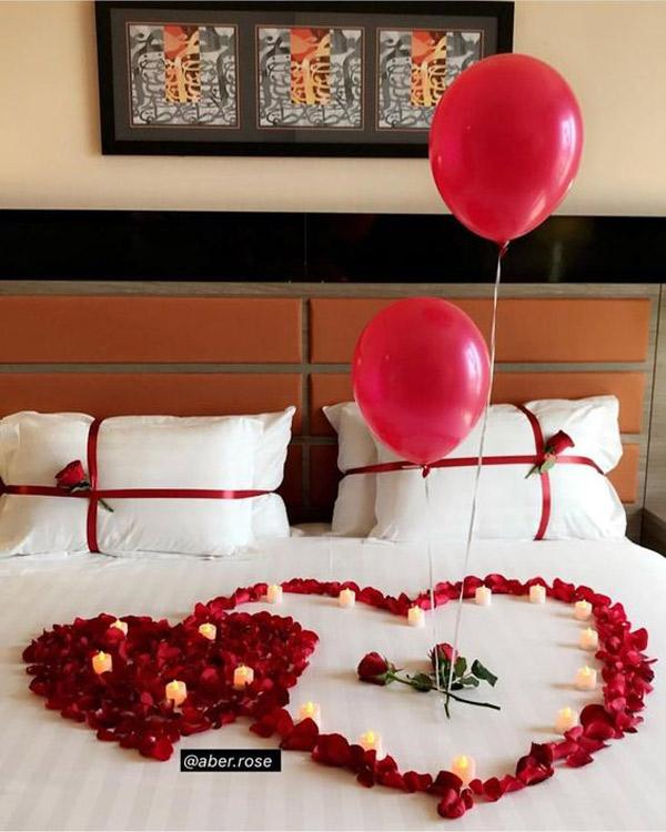 تزیین رمانتیک برای اتاق عروس و داماد