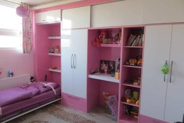 کمد دیواری اتاق نوجوان دختر