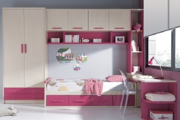 کمد دیواری اتاق خواب دخترانه