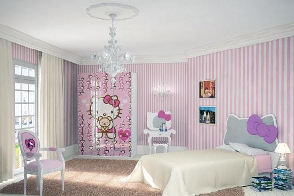 مدل کمد دیواری اتاق کودک دختر