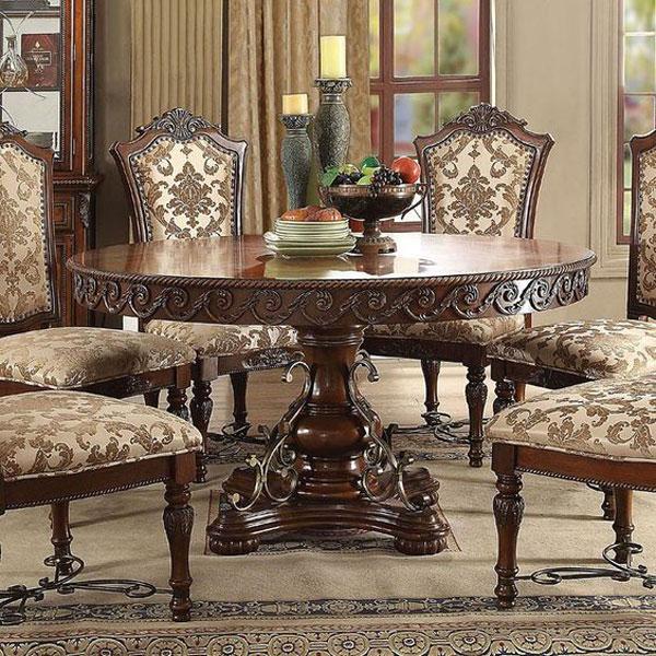 مدل میز ناهارخوری کلاسیک همراه با منبت های زیبا و باکلاس