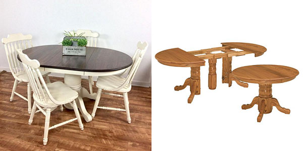 مدل میز ناهارخوری تاشو گرد با طراحی زیبا و بی نظیر