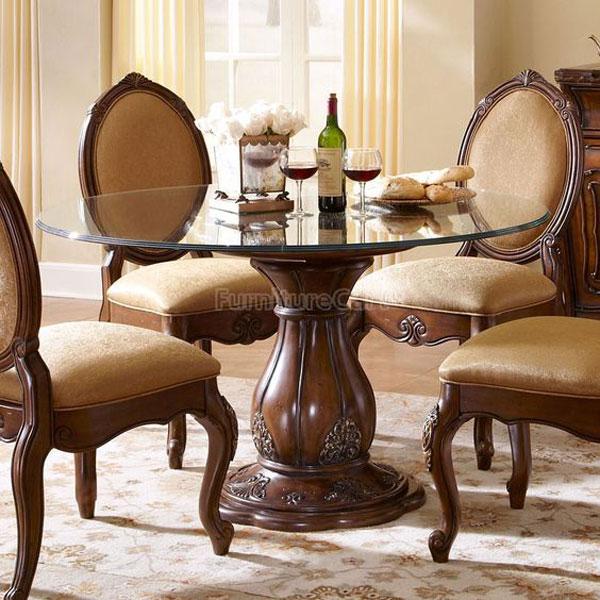 مدل میز ناهارخوری گرد کلاسیک ساده و شیک