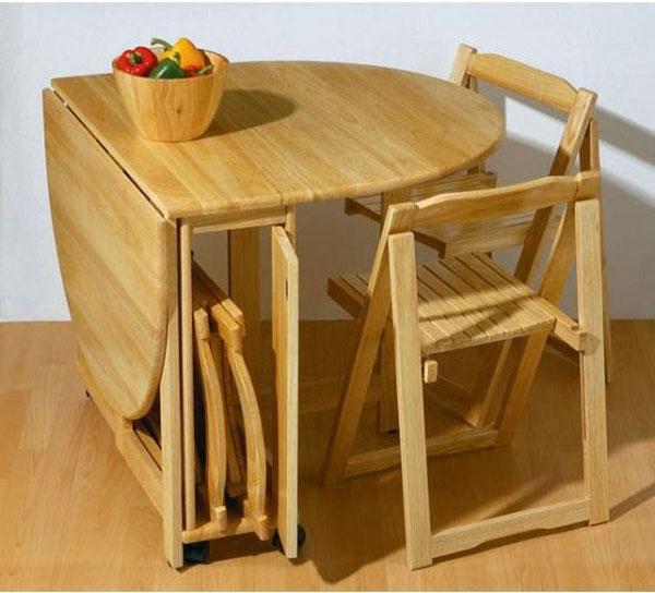 مدل میز ناهارخوری تاشو و کم جا برای آشپزخانه های کوچک