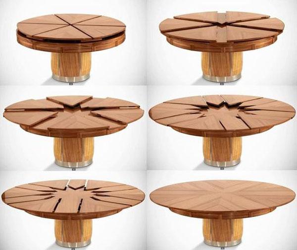 مدل میز ناهارخوری تاشو گرد جدید با طراحی خاص