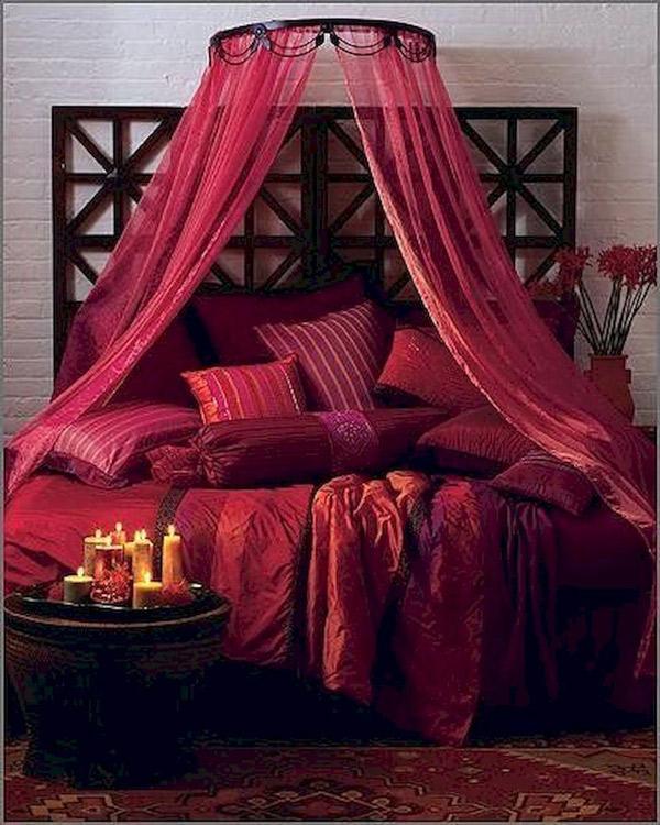 دکوراسیون اتاق عروس به رنگ قرمز