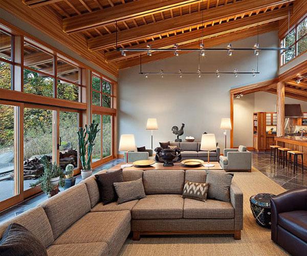 مدل پنجره برای باغ و ویلا در دکوراسیون چوبی ویلا