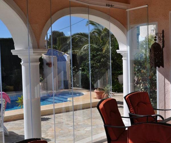 مدل پنجره برای باغ و ویلا UPVC سراسری