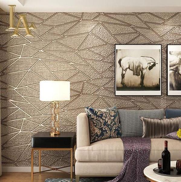 کاغذ دیواری برجسته طلایی