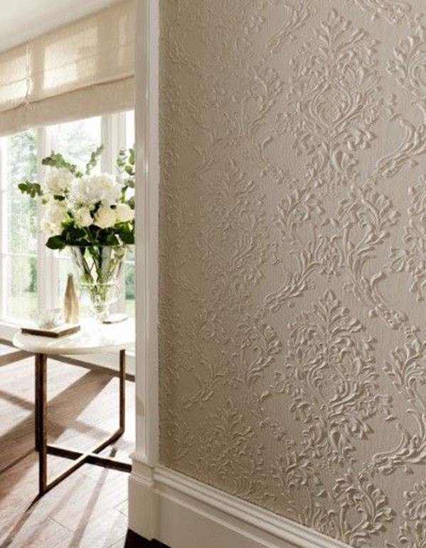 کاغذ دیواری برجسته سفید