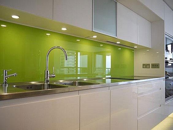 مدل شیشه بین کابینتی سبز