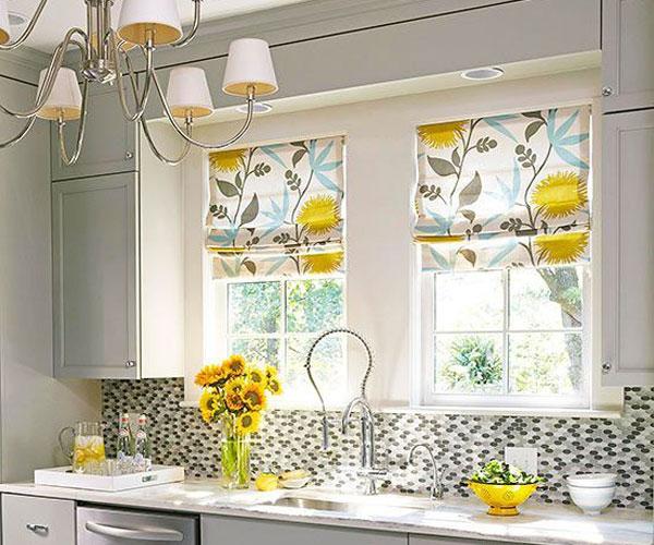 مدل پرده پنجره  آشپزخانه کلاسیک