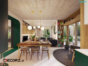 آپارتمانی ۷۲ متری با دکوراسیونی مدرن و گرم
