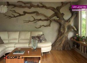 عکس استفاده از درختان خشک در تزئین دکور منزل