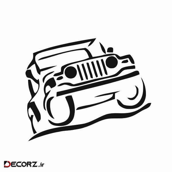 استیکر طرح Jeep Wrangler