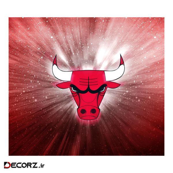 استیکر  کلید و پریز    طرح  لوگو بسکتبال شیکاگو    کد  21564