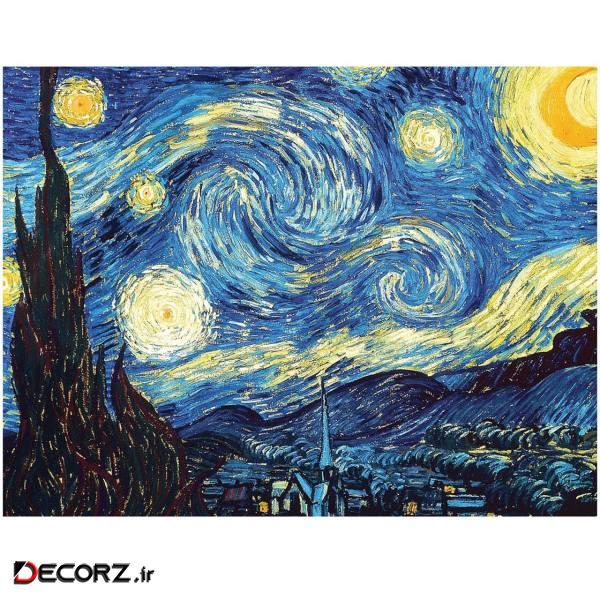 تابلو دیواری گراسیپا مدل شب پر ستاره