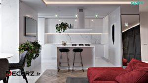 دکوراسیون داخلی ۵۰ آشپزخانه لوکس و نکاتی برای طراحی و انتخاب اکسسوری ها