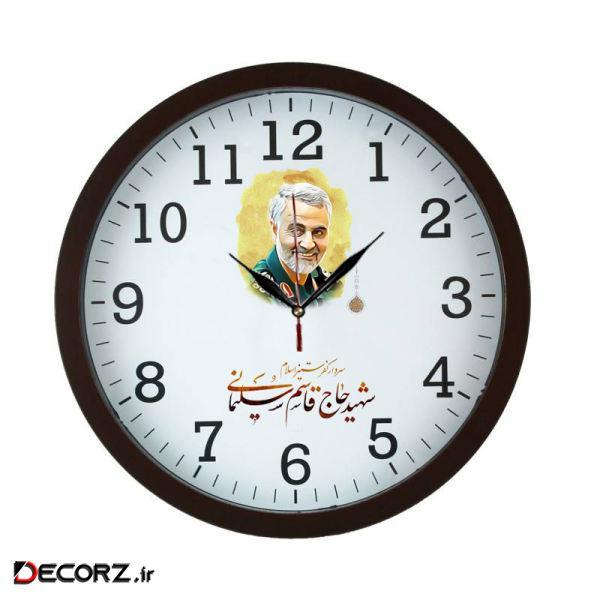 ساعت دیواری مدل سردار قاسم سلیمانی کد 0016