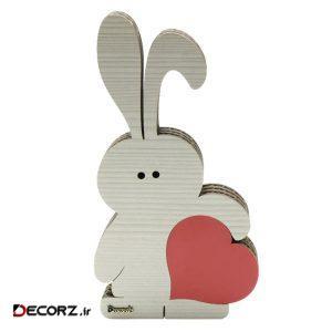 مجسمه دکورچی طرح خرگوش عاشق مدل DDS103 مجموعه دو عددی