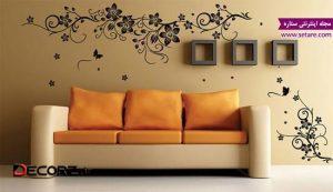 مدل کاغذ دیواری - طرح کاغذ دیواری پذیرایی - دکوراسیون پذیرایی