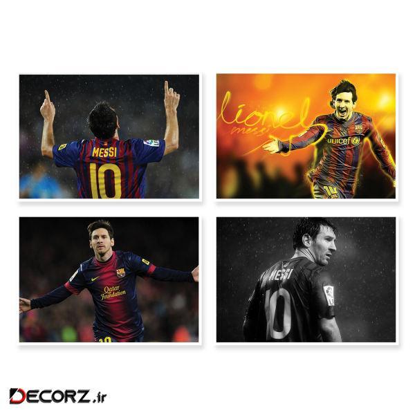 پوستر طرح Messi کد A-1730 مجموعه 4 عددی