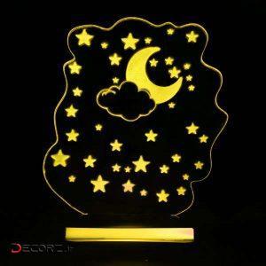 چراغ خواب بتابی طرح آسمان شب کد 3002