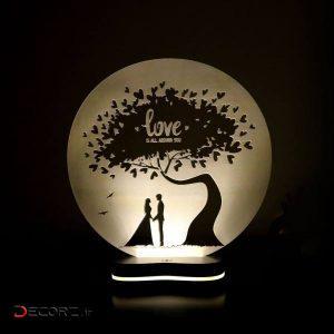 چراغ خواب سه بعدی گالری دکوماس طرح درخت عشق کد DMS149