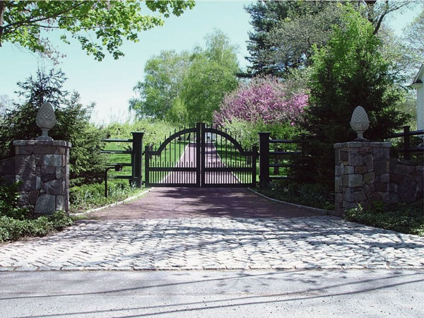 درب ورودی باغ ساده آهنی