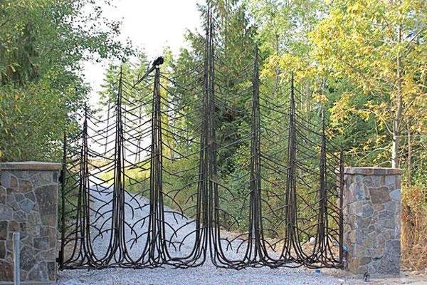 مدل درب ورودی باغ طرح درخت