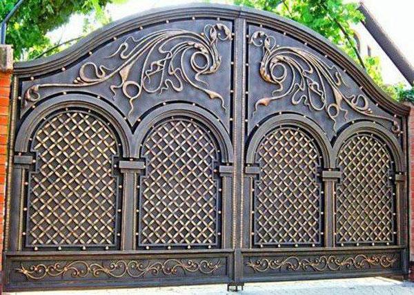مدل درب ورودی باغ شیک و خاص فلزی