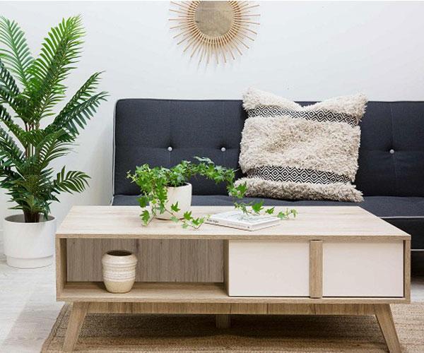 مدل میز جلو مبلی  ایکیا با طرح چوب
