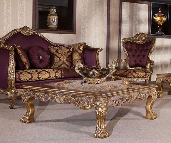 مدل میز جلو مبلی مناسب دکوراسیون سلطنتی و لوکس