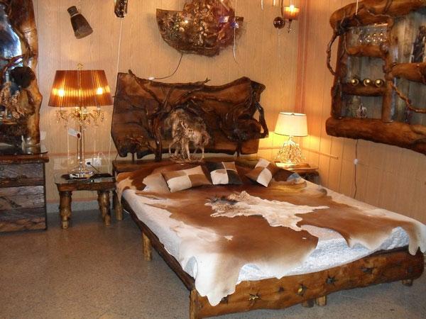 تخت خواب روستیک