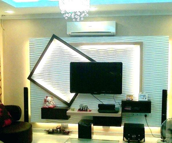 تزیین دیوار پشت تلویزیون از جنس چوب مناسب تلویزیونهای دیواری