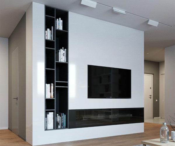 تزیین دیوار پشت تلویزیون  با روش ساده و شیک
