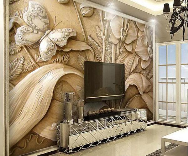 کاغذ دیواریهای سه بعدی برای تزیین دیوار پشت تلویزیون