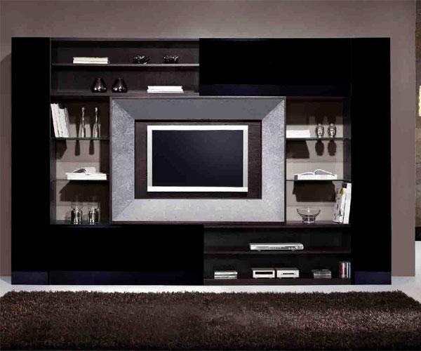 تزیین دیوار پشت تلویزیون  مناسب دکوراسیون داخلی سبک مدرن