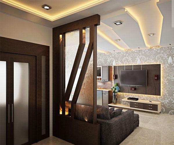 تزیین دیوار پشت تلویزیون هماهنگ با دکور داخلی منزل