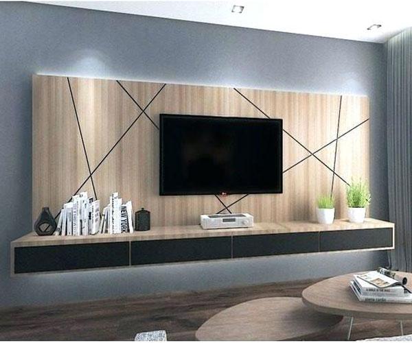 دکور دایرهای تزیین دیوار پشت تلویزیون