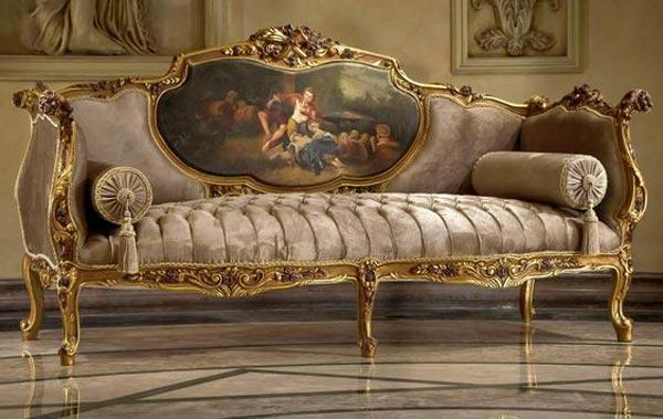 مبل شزلون سلطنتی با پارچه زیبا
