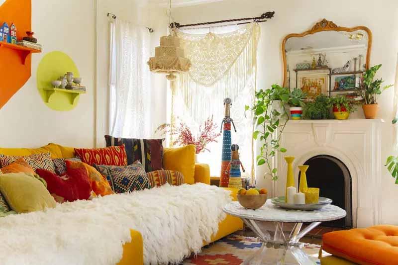 نکات طراحی منزل به سبک بوهمین