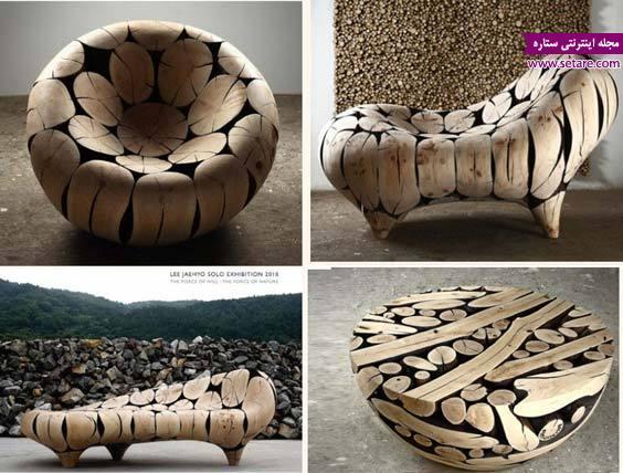 عکس طراحی مبلمان چوبی،